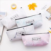 Sacchetti di trucco del modello di marmo Sacchetti di immagazzinaggio del sacchetto di cosmetici multifunzionali della borsa di viaggio della donna multifunzionale Sacchetti Studenti Sacchetti di matita di penna svegli