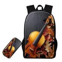 Уникальная скрипка шаблон дети школьные сумки хорошее качество карандаш сумка для учащихся начальных классов женские стильные рюкзаки унисекс открытый рюкзак