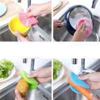 Силиконовые мыть посуду губка скруббер кухня очистка антибактериальный инструмент мягкая очистка антибактериальная щетка кухонные инструменты
