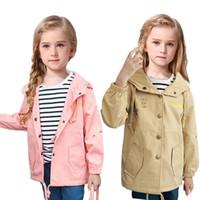 V-tree meninas jaqueta moda jaqueta para a menina primavera outono crianças trincheira casacos crianças roupas marcas outerwear 2-10 anos
