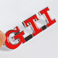 3D Kırmızı GTI Metal Araba Kuyruk Sticker Gövde Boot Rozeti VW Polo GTI Oto Araba Arka Amblem için GOLF MK3 için Dış Çıkartmaları Aksesuar