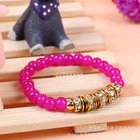 Fashion Candy- colored Alloy Rhinestone Accessories Bracelet