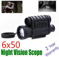 متعددة الوظائف wg 6x50 للرؤية الليلية نطاق البصر للرؤية الليلية بندقية riflescope 200 متر للرؤية الليلية أحادي البصريات الرقمية أحادي
