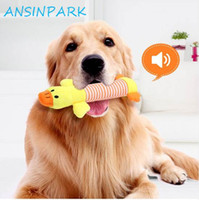 ANSINPARK animal chew toy dog cat vocalization in cloth doll...