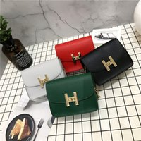 2018 new ladies fashion solid color simple chain bag Korean ...