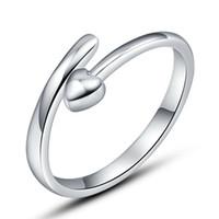 Tek açık gümüş ürün ayıklayacaktır yüzük eski küçük aşk nokta nokta sonsuz moda açık tasarım yeni