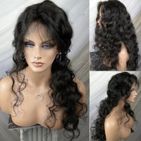 Water Wave Lace Front Human Hair Wigs With Baby Hair 130% De...