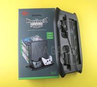 Çok Fonksiyonlu Dikey Oyun Konsolu Şarj Standı ile Çift Soğutma Fanı 18 Disk Depolama Tutucu Kulesi Dağı Xbox One X