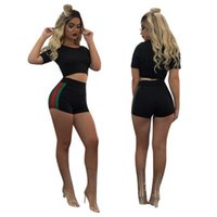 Summer Night Club Women Tracksuits Women Short Sleeves Crop ...