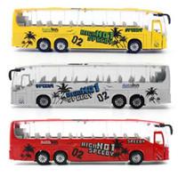 Feichao 1:50 Diecast Cars Metal Model Car Toys Alloy Bus Toy con puertas que se pueden abrir / Música / Función de luz para niños Niños