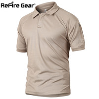 8775e393 Wholesale military fashion shirts online - Refire Gear Military Tactical Polo  Shirt Men Summer Us Army
