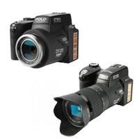 새로운 Protax D7300 디지털 카메라 33MP 전문 DSLR 카메라 24x 광학 줌 망원 8X 와이드 앵글 렌즈 LED 스포트 라이트 삼각대