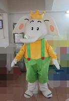 Elephant Mascot Kostymer Animerat Tema Elefanterna Cipaly Cartoon Mascot Karaktär Vuxen Halloween Carnival Party Costume