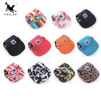 12 couleurs Chien Chapeau Pet Baseball Cap Chiens Sport Chapeau de visière avec des trous d'oreille et Chin Strap pour chiens et chats Pet Dog Hat pour S M L XL taille