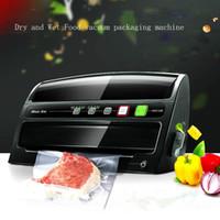 Máquina automática de sellado al vacío húmedo y seco Sellador al vacío para la conservación de alimentos domésticos Máquina de envasado de bolsas de película al vacío de alimentos multifunción