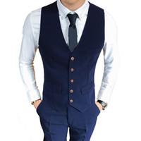 Hombre Sólido Color Slim Business Asuntos Moda Chaleco Hombres Menores Senior Cómodo Ocio Vestido completo Traje S-3XL Alta Calidad