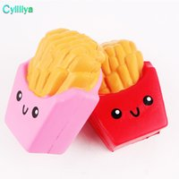 Squishy francês Fries Jumbo Potato Chip lento Nascente alta qualidade Kawaii bonito macias perfumadas pão Squishies estiramento Kid Toy Presente livre DHL