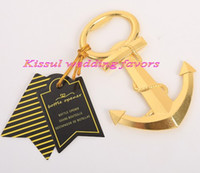 (20 Pieces lot) Nautical wedding Gifts of Gold Nautical Anch...