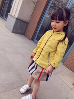 new retro luxury brand Kids Jacket Girls Clothes Hooded Chil...