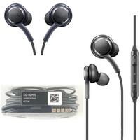 Для Samsung Galaxy S8 S8 Plus В Ухо Проводная гарнитура стерео звука Earbuds регулятор громкости для S6 S7 Примечание 8 наушники без логотипа
