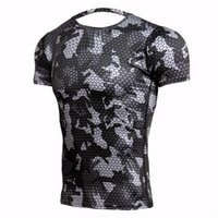 New Fitness T Shirts Men Compression Shirts Bodybuilding Cam...