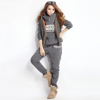 Womens Hoodies Pant Clothing 3PCS Set Warm New Women Ladies ...