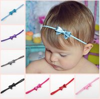 Hot Sale!Baby Infants Shiny Paillette Bow Headbands Children Kids Elastic Small Bowknot Hairbands Hair Accessories Princess Headdress BY0191