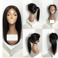 Lace Front Human HairWigs Peruvian Virgin Hair Front Lace Wi...