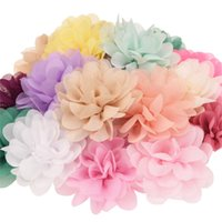 22pcs Satin flower DIY accessories for Hair fabric flowers 7...