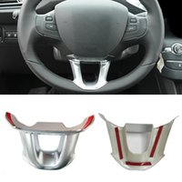 Chrome ABS Sticker Steering Wheel Trim Decorative Frame Sequ...