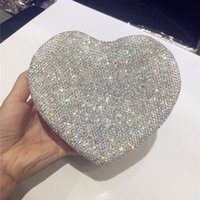 Bling Bling Heart Shape Women Jewelry Box with Crystals Earr...