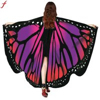 Women Beach Scarf Pashmina Butterfly Wings Shawl Scarves 201...