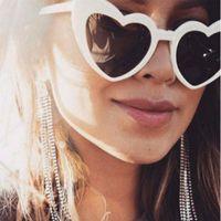 2019 신품 UV400 피치 하트 하라주쿠 플라스틱 안경테 귀여운 선글라스 사랑 하트 모양의 안경 선글래스 베스트 발렌타인 데이 선물