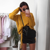 9a45977865 2018090612 Side lace up sweaters woman winter 2018 Turtleneck batwing sleeve  Loose pullover casual women jumper pull femme