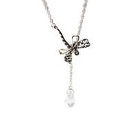 Kompatibel mit Pandora Schmuck 925 Sterling Silber Dreamy Libelle Halskette für Frauen Original-Mode-Anhänger-Charme Schmuck