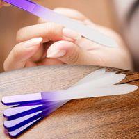 4pcs lime à ongles cristal verre fichier tampon manucure dispositif décorations pour ongles outil