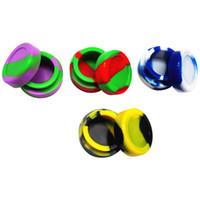 50 шт./лот 5 мл мини ассорти цвет силиконовый контейнер для мазки круглой формы силиконовые контейнеры воск силиконовые банки извлечения Box