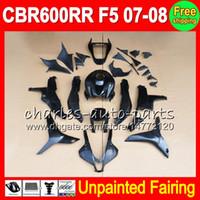8gifts неокрашенный полный обтекатель комплект для HONDA CBR600RR 07-08 CBR 600RR 600 CBR600 RR F5 600RR CBR 600F5 07 08 2007 2008 обтекатели кузова