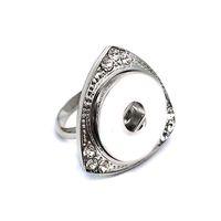 Горячие продажи высокого качества 012 цветок DIY металла регулируемые кольца fit имбирь 18 мм оснастки кнопки кольца ювелирные изделия Шарм кольца для женщин