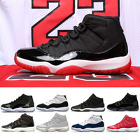Nike air jordan retro 11 2018 11 Cap and Gown 11s Prom Night Hombre mujer Zapatos de baloncesto Concord Platinum Tint Bred gamma azul Gana como 96 Sports Sneakers