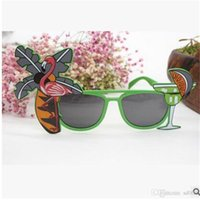 Summer Flamingo Sunglasses Hawaiian Tropical Cocktail Beach Ball Beer Party Luxury Brand Designer Occhiali da sole Dress For Men Women 3 6qt ZZ