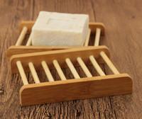 الخيزران الصابون حامل خشبي الخيزران الطبيعي صحن الصابون تخزين الصابون رف لوحة مربع حاوية للحمام دش لوحة الحمام