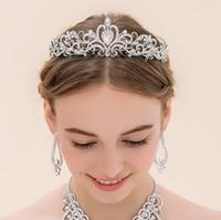 Bling Kristaller Düğün Taçlar Gelin Peçe Tiaras Taçlar Kafa Saç Parti Düğün Tiara için Tiara Düğün Fascinators Saç Adet
