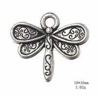 Chariots d'alliage de zinc Charms d'animaux Charms de libellule pour bijoux Faire d'autres bijoux personnalisés