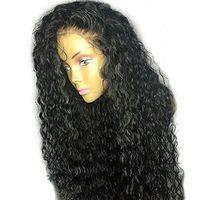 150% densità 360 parrucca frontale in pizzo parrucche ricci per capelli umani capelli remy pre strappati attaccatura dei capelli con i capelli del bambino nodi candeggiati