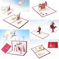 Cartões De Natal 3D Pop Up Série Feliz Natal Do Papai Noel Artesanal Cartões Personalizados Presentes De Natal Lembranças Cartões Postais