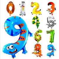 500pcs lot 16 inch Animal Arabic numerals Balloon Cartoon Fo...
