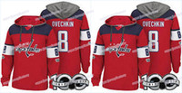 Mannen 100th Washington Capitals Jerseys 8 Alex Ovechkin 19 Nicklas Backstrom 77 T.J. Oshie 43 Tom Wilson Hoodies Jerseys Sweatshirts