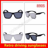 95dfff3744 Hombres Mujer Classic Retro Driving Sunglasses Gafas de sol de marca de  lujo Protección UV Gafas