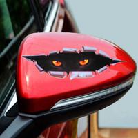 Adesivi per auto di marca occhi di gatto carino di marca Adesivo 3D decalcomania del vinile per specchietto retrovisore auto copertura del motore Adesivo decorazione di Windows